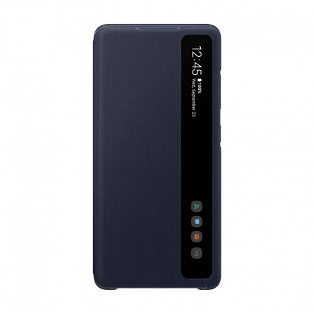 Samsung EF-ZG780CNE Clear View Cover puzdro na Galaxy S20 FE modrý