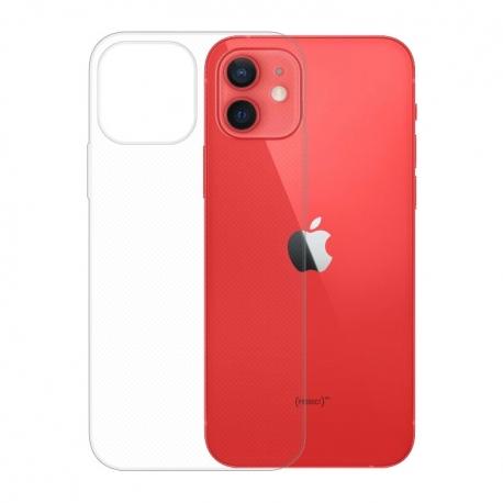 Gumové pouzdro Apple iPhone 12 a 12 Pro transparentní
