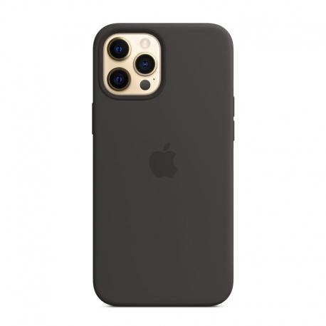 Silikónový kryt s MagSafe na Apple iPhone 12 Pro Max čierny