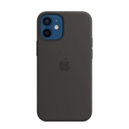 Silikónový kryt s MagSafe na Apple iPhone 12 mini čierny