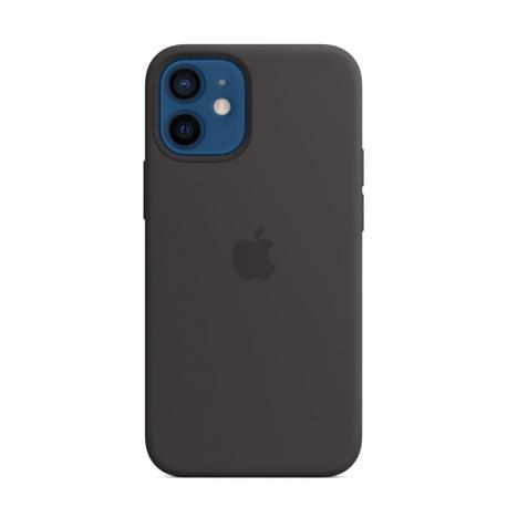 Silikonový kryt s MagSafe na Apple iPhone 12 mini černý