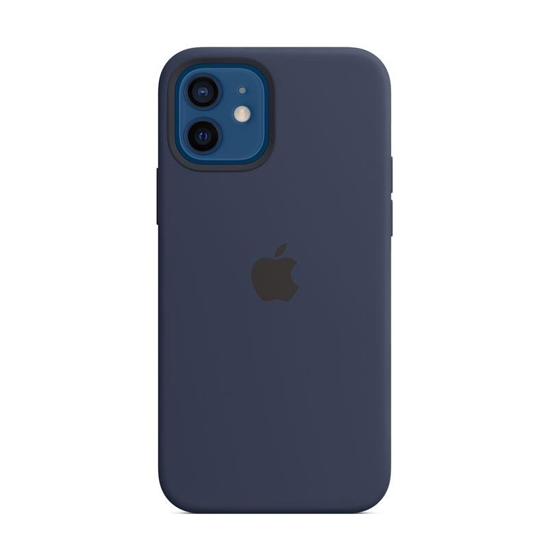 Silikónový kryt s MagSafe na Apple iPhone 12 a 12 Pro modrý