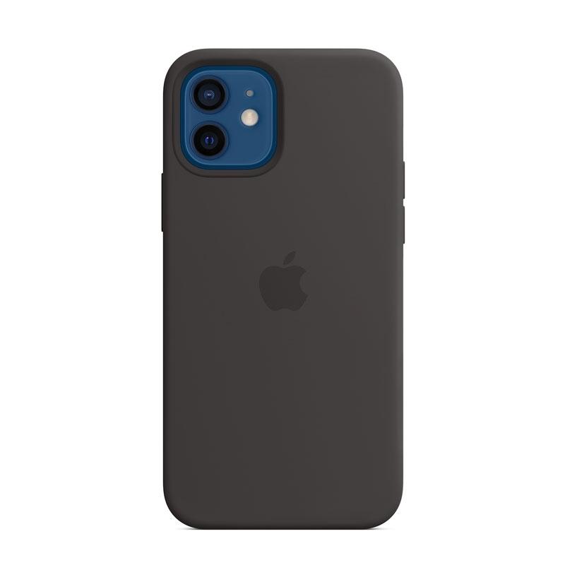 Silikónový kryt s MagSafe na Apple iPhone 12 a 12 Pro čierny