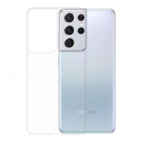 Gumové pouzdro Samsung Galaxy S21 Ultra transparentní