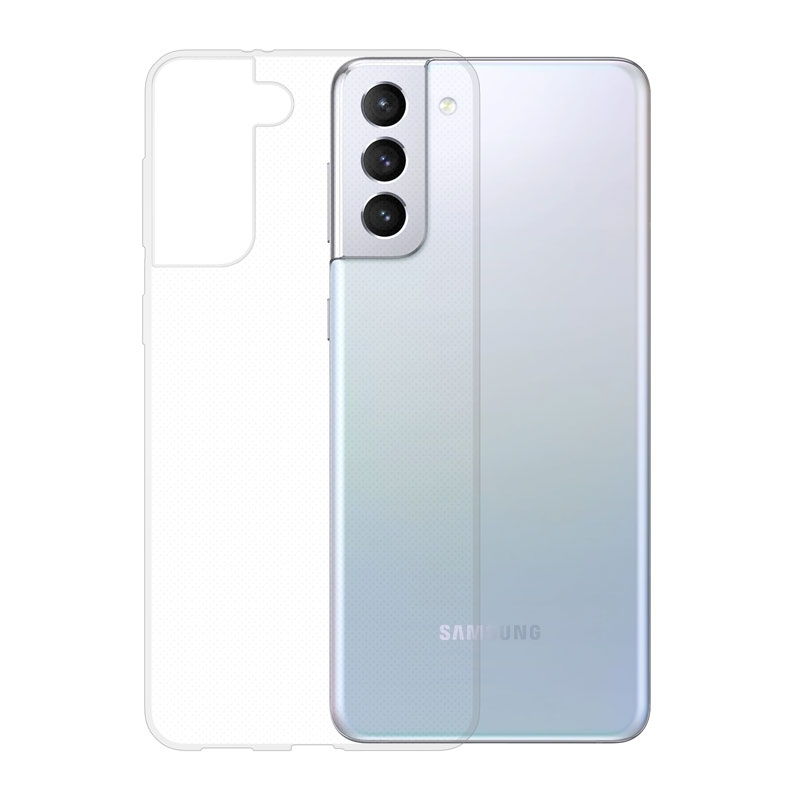 Gumené puzdro na Samsung Galaxy S21+ transparentné