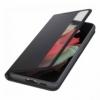 Samsung EF-ZG998CBE Clear View Cover puzdro na Galaxy S21 Ultra čierne