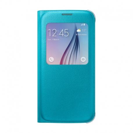 Samsung S-View Cover flipové puzdro s oknom na Galaxy S6 modré
