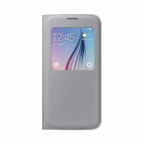 Samsung S-View Cover flipové pouzdro s oknem na Galaxy S6 stříbrné