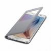 Samsung S-View Cover flipové puzdro s oknom na Galaxy S6 strieborné
