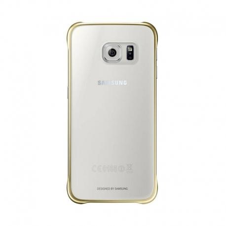 Samsung Clear Cover průhledný obal na Galaxy S6 stříbrný