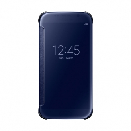 Samsung Clear View Cover průhledné flipové pouzdro na Galaxy S6 černé