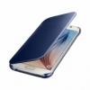 Samsung Clear View Cover priehľadné flipové puzdro na Galaxy S6 čierne