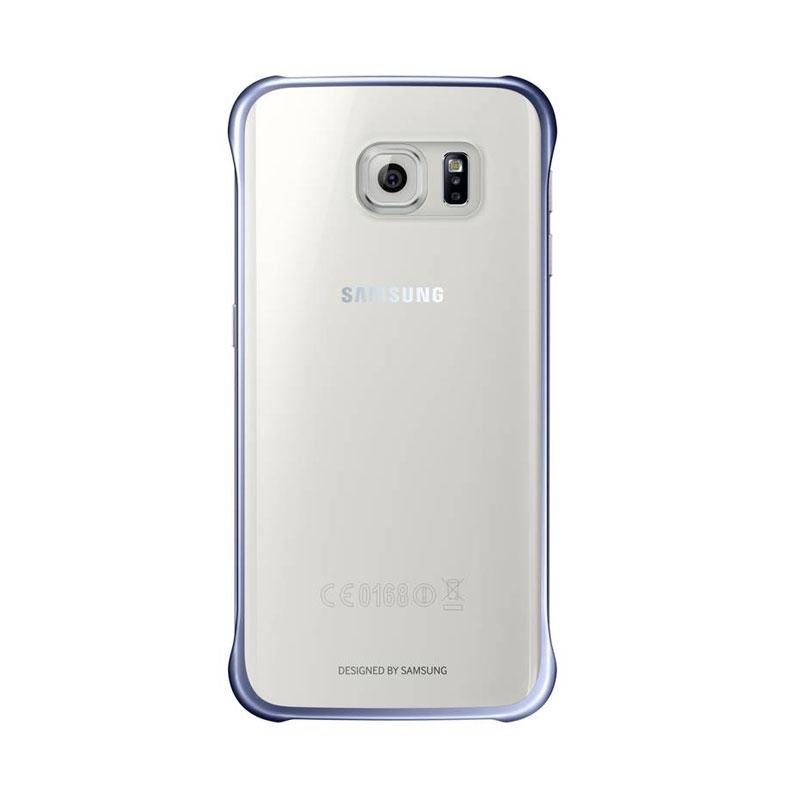 Samsung Clear Cover priehľadný obal na Galaxy S6 Edge čierny