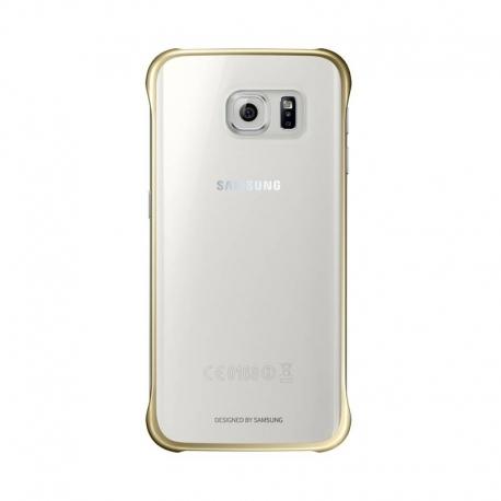 Samsung Clear Cover priehľadný obal na Galaxy S6 Edge zlatý