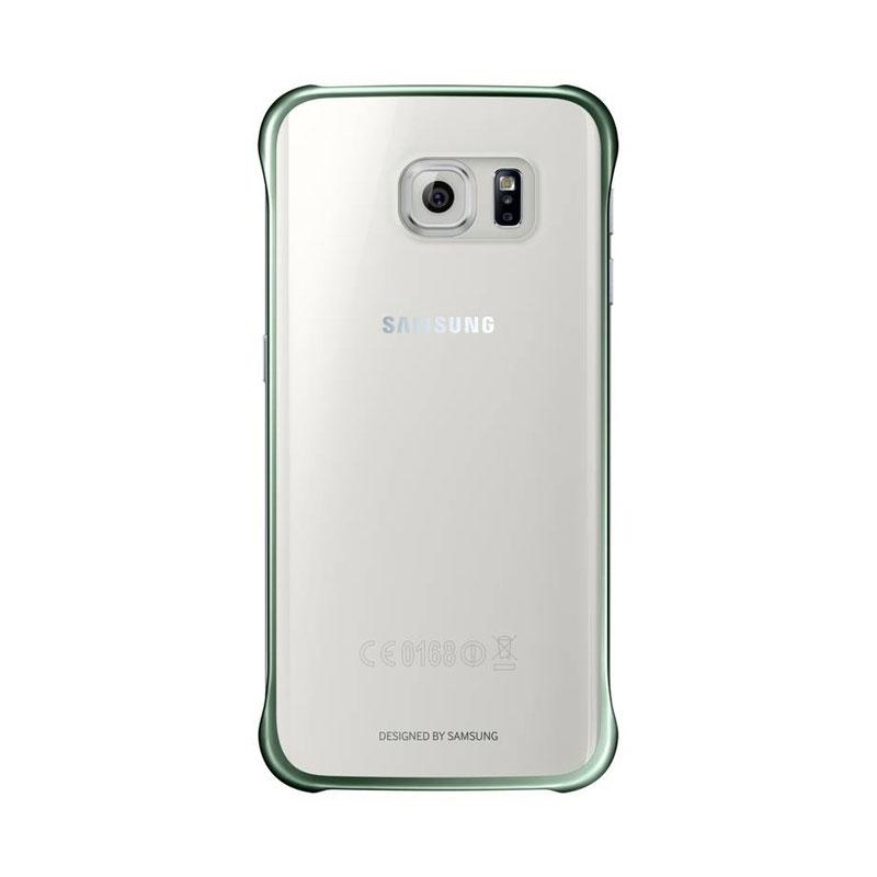 Samsung Clear Cover priehľadný obal na Galaxy S6 Edge zelený
