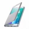 Samsung S-View Cover flipové puzdro s oknom na Galaxy S6 Edge+ strieborné