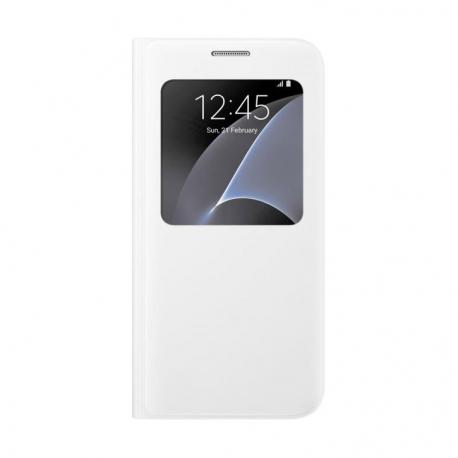 Samsung S-View Cover flipové pouzdro s oknem na Galaxy S7 bílé