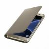 Samsung Wallet Cover flipové puzdro na Galaxy S7 zlaté
