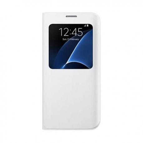Samsung S-View Cover flipové pouzdro s oknem na Galaxy S7 Edge bílé
