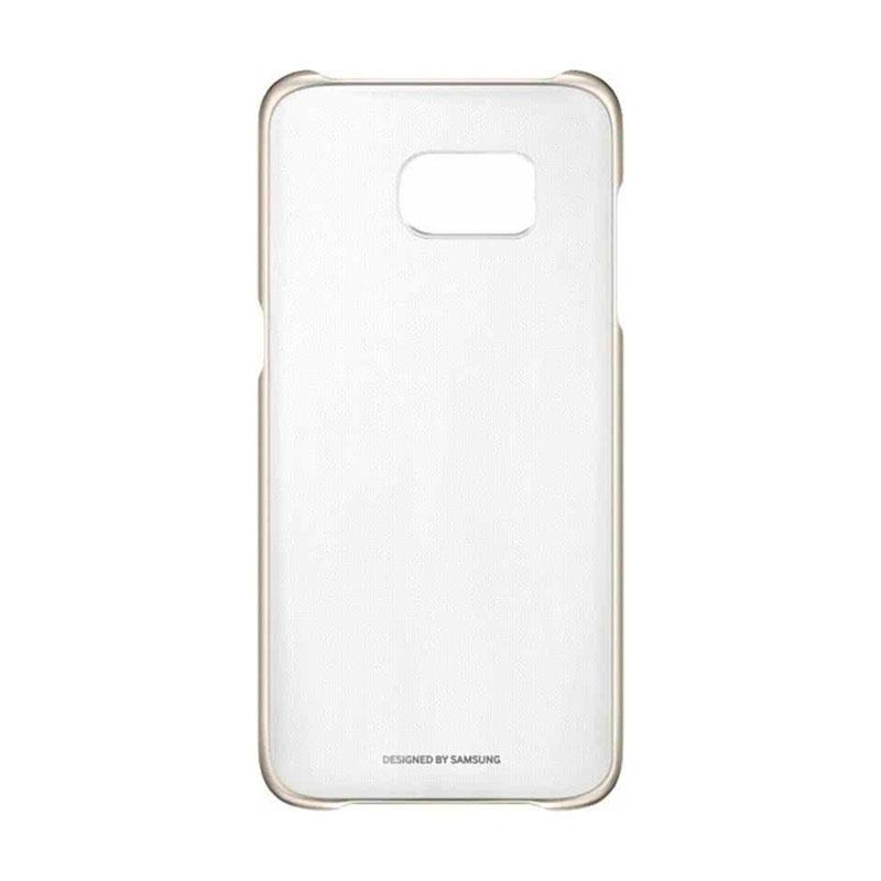 Samsung Clear Cover priehľadný obal na Galaxy S7 Edge zlatý