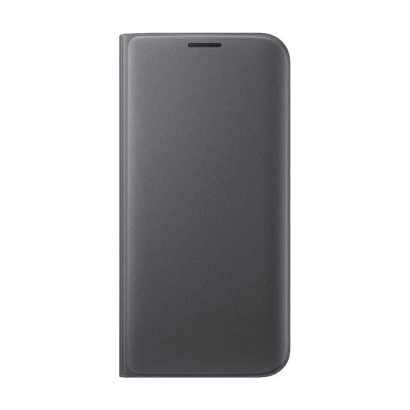 Samsung Wallet Cover flipové puzdro na Galaxy S7 Edge čierne