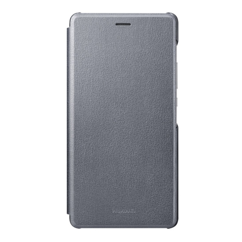 Huawei Flip cover puzdro na P9 Lite tmavo šedé