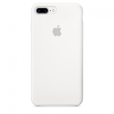 Apple iPhone 7 Plus silikonové pouzdro bílé