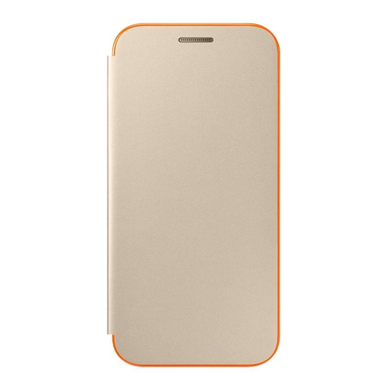 Samsung flipový kryt zlatý pro Galaxy A3 2017