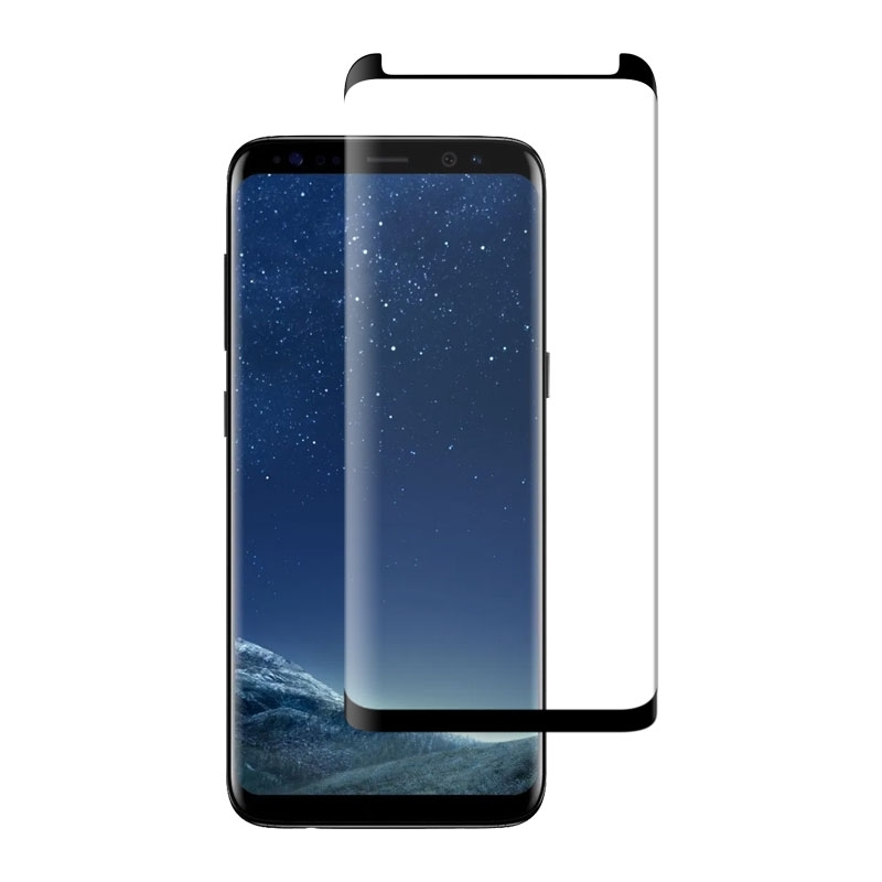 Ochranné sklo CaseFit na Samsung Galaxy S8 čierne