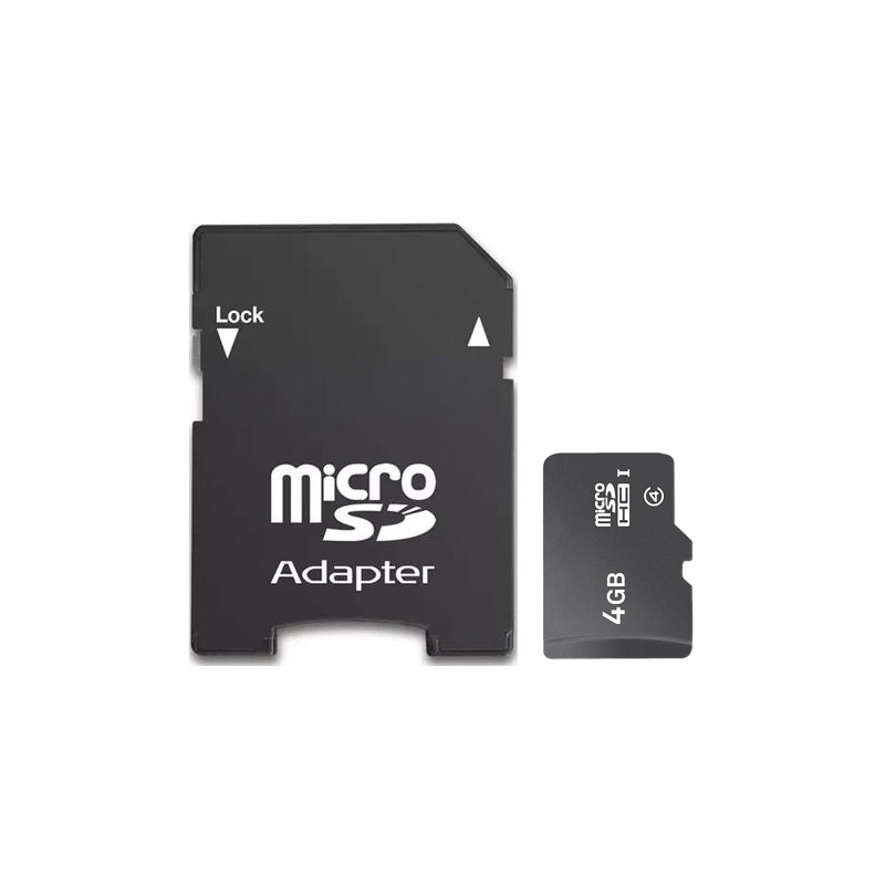 Micro SDHC paměťová karta 4GB class 4 s adaptérem