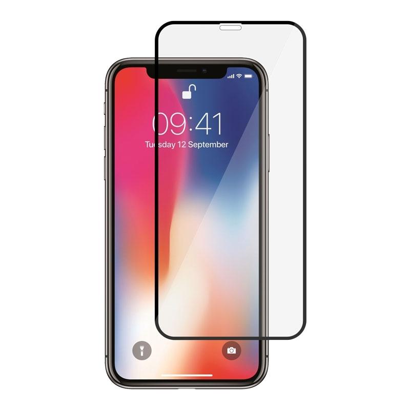 Ochranné sklo na Apple iPhone XS / X čierne
