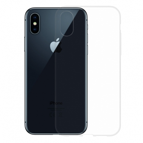 Gumené puzdro na Apple iPhone XS / X transparentné