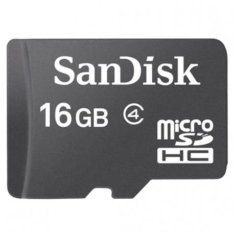 SanDisk microSDHC karta 16GB class 4 bez adaptéru