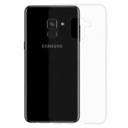 Gumové pouzdro Samsung Galaxy A8 transparentní