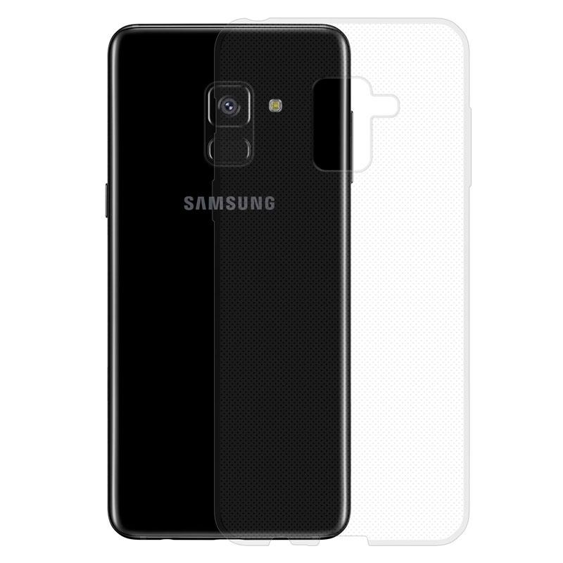 Gumené puzdro na Samsung Galaxy A8 transparentné