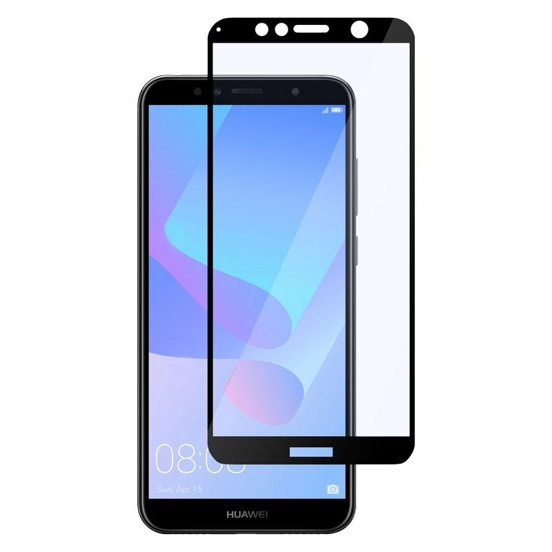 Ochranné sklo na Huawei Y6 2018 čierne