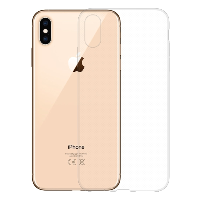 Gumové pouzdro Apple iPhone XS Max transparentní