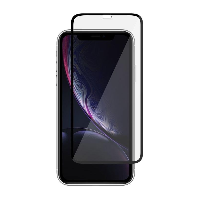 celotělové Ochranní sklo pro Apple iPhone Xr černé
