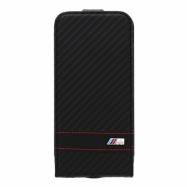 BMW flipové pouzdro Apple iPhone 6 černý karbon efekt
