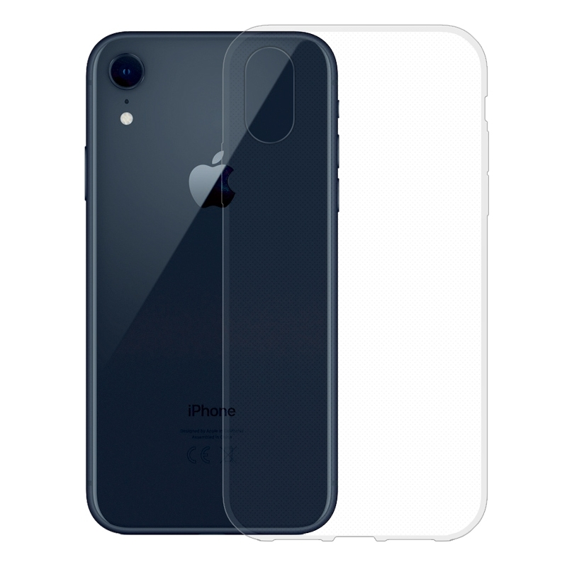 Gumené puzdro na Apple iPhone XR transparentné