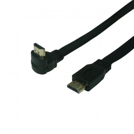 HDMI plochý kábel priamy a zahnutý konektor hore