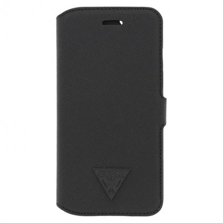 Guess flipové puzdro na Apple iPhone 6 čierne scratch