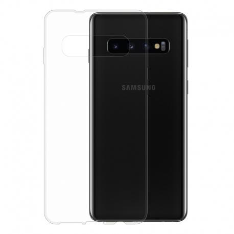 Gumené puzdro na Samsung Galaxy S10 transparentné