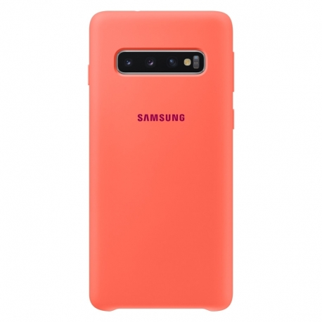 Samsung Silicone Cover pro Galaxy S10 růžový