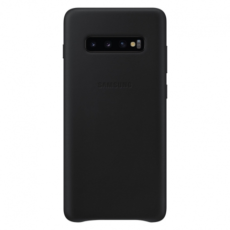 Samsung Leather Cover pro Galaxy S10 Plus šedý