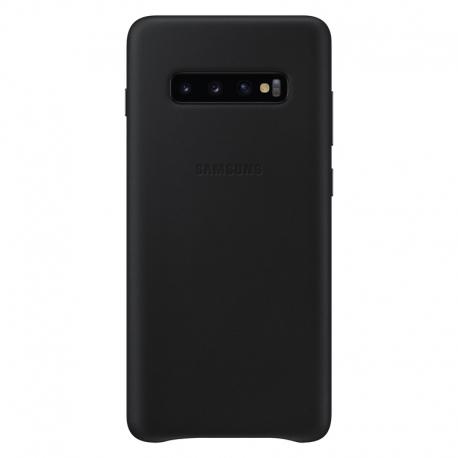 Samsung Leather Cover pro Galaxy S10 Plus šedý