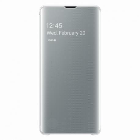 Samsung Clear View Cover pro Galaxy S10 bílý