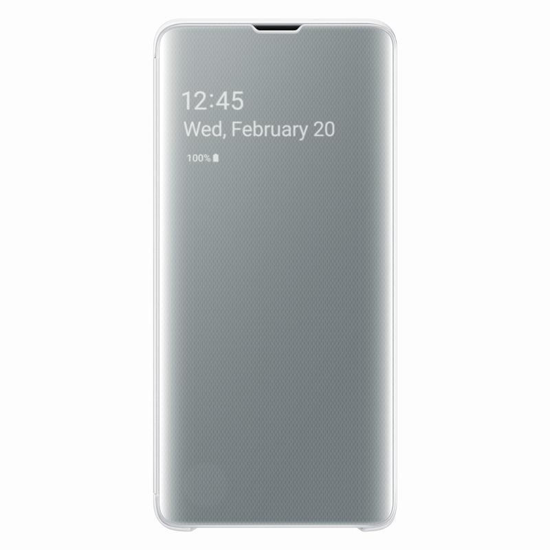 Samsung Clear View Cover EF-ZG973CW puzdro na Galaxy S10 biele