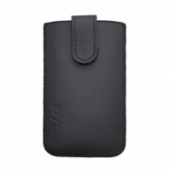 Univerzálne kožené puzdro veľkosť Samsung Galaxy S5 čierne