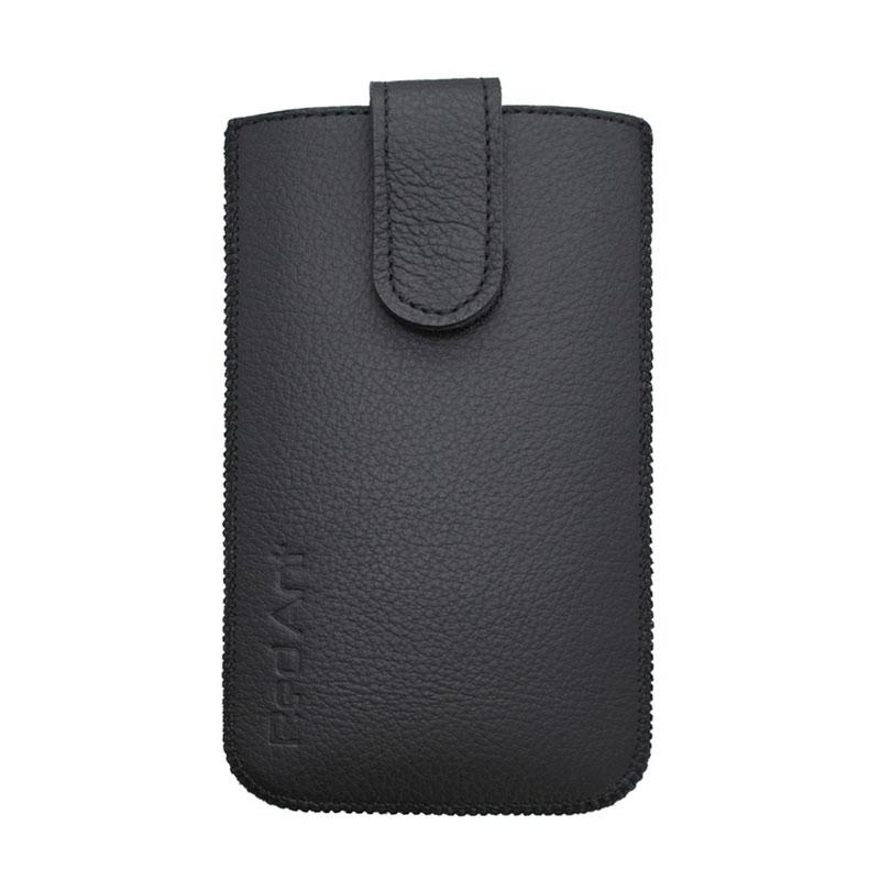 Kožená vsuvka na Samsung Galaxy S5 černá